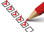Check List With Red Checkmark Icon
